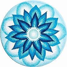 Grund Bath Mat, Ultra Soft and Absorbent, Anti Slip, 5 Years Warranty, Heavenly Peace, Mandala 80 cm Round, Blue