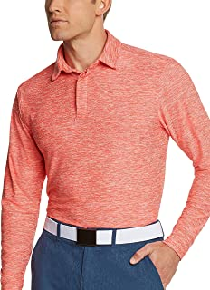 Men's Dry Fit Long Sleeve Polo Golf Shirt, Moisture Wicking and 4 Way Stretch