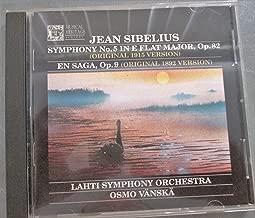 Jean Sibelius Symphony No. 5 in E Flat Major, Op. 82; Original 1915 Version, En Saga, Op.9 Original 1892 Version