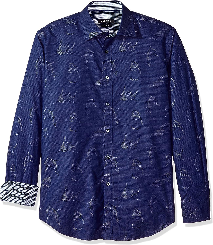 Bugatchi Men's Slim Fit Long Sleeve Casual Button Down Shirt