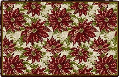 "Brumlow MILLS EW20227-30X46 Poinsettia Granate, Alfombra de área, 30""x46"""
