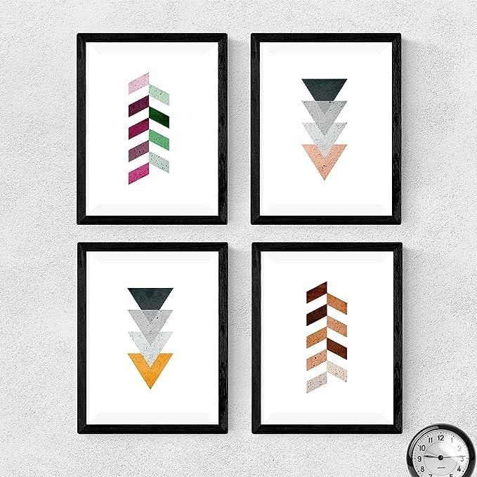 1061 opinioni per Nacnic Set di 4 Stampe artistiche, tema frecce geometriche. . Stampe in stile