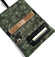 Pitillera tabaco de liar Calaveras Camuflaje, Tabaquera artesana, Funda para tabaco de liar
