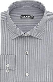 Kenneth Cole REACTION Mens Unlisted Slim Fit Stripe Spread Collar Dress Shirt Dress Shirt