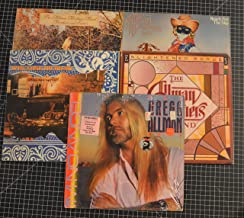 lot of 5 allman brothers band lps i'm no angel, enlightened rogue, reach for the sky, win lose or draw, brothers and sisters