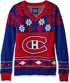 FOCO NHL Women's V-Neck Sweater