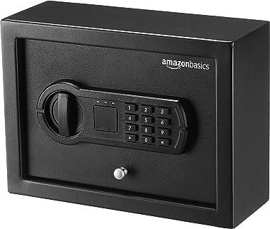 AmazonBasics Small, Slim Desk Drawer Security Safe Lock Box