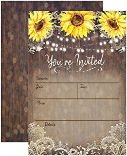 1a76b04a3faa Country Lace and Sunflower Invitations