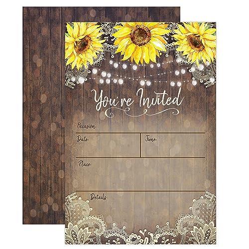 9cbe91531f0d Rustic Bridal Shower Invitations  Amazon.com