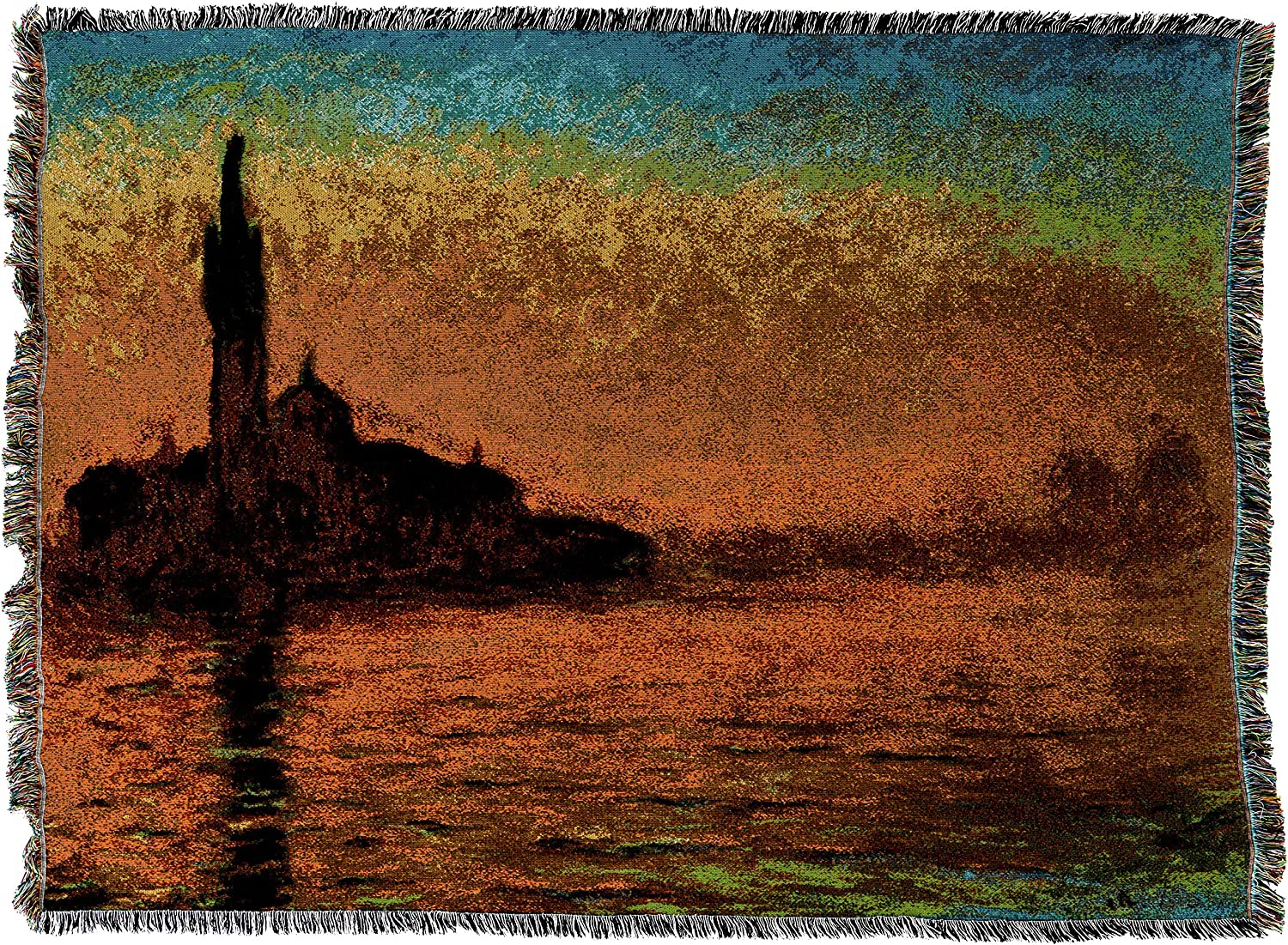 Pure Country Weavers  San Giorgio Maggiore At Dusk Blanket  Tapestry Throw