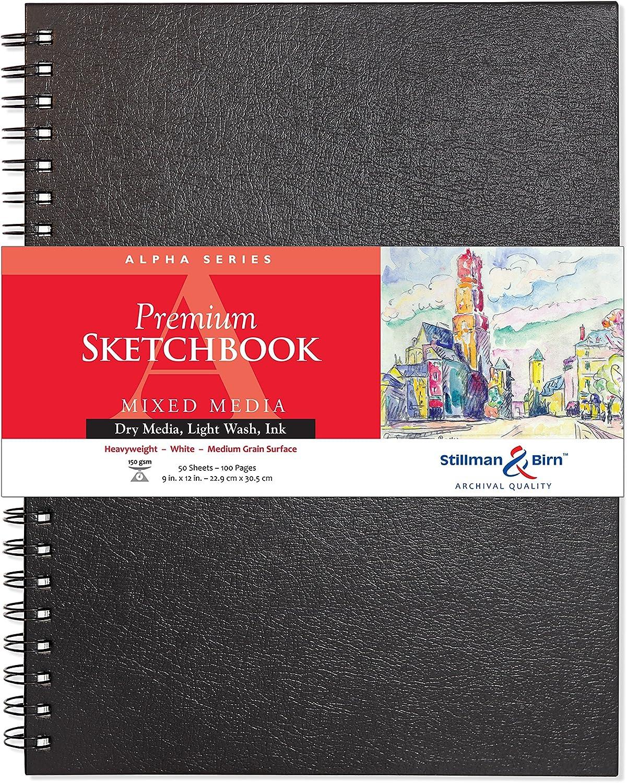 Stillman & Birn Skizzenbuch ALPHA ALPHA ALPHA Spiral, 50 Blatt, 150 g, 22.9 x 30.5 cm B005FY7ZDG   Shop  350a49