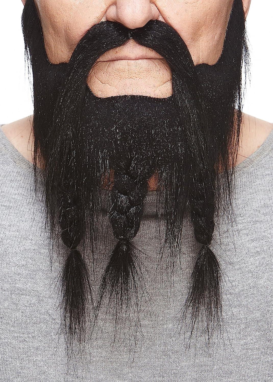 Mustaches Barba y Bigote Blancos Trenzados Estilo capitán