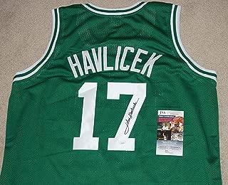 JOHN HAVLICEK #17 Boston Celtics Signed Green JERSEY + JSA COA