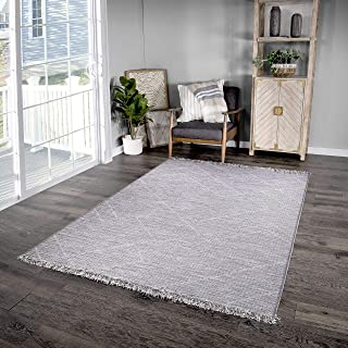 "Orian Rugs Tweed Indoor/Outdoor Seems Sketchy Area Rug, 5'1"" x 7'6', Gray"