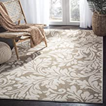 Safavieh Amherst Collection AMT425S Wheat and Beige Indoor/ Outdoor Area Rug (2'6
