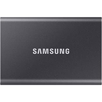 Samsung T7 500GB Up to 1,050MB/s USB 3.2 Gen 2 (10Gbps, Type-C) External Solid State Drive (Portable SSD) Grey(MU-PC500T)