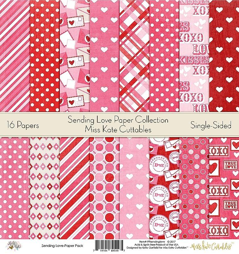 Pattern Paper Pack - Sending Love - Scrapbook Premium Specialty Paper Single-Sided 12