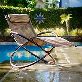 RST Brands OP-OL04-BRN Original Orbital Zero Gravity Lounger Patio Chair
