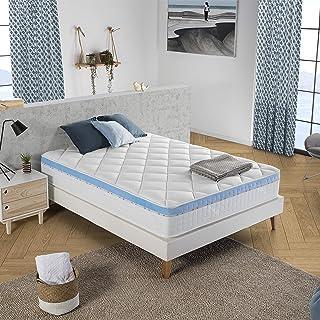 marckonfort Colchón Viscoelástico Gel Active 150 x 190 x 25 cm, 1 cm de Visco-Gel de 65 kg/m3 + Independencia de lechos + Firmeza: Media + Extremadamente Durable