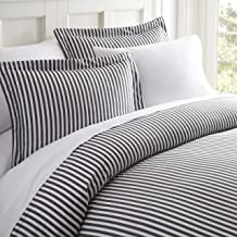 Simply Soft Ultra Soft Ribbon Patterned 3 Piece Duvet Cover Set, Queen, Ribbon Gray