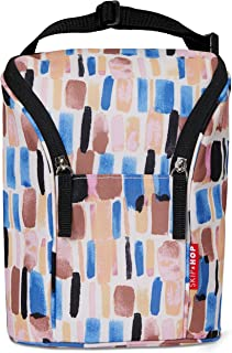 Skip Hop Insulated Breastmilk Cooler and Baby Bottle Bag, Grab & Go Double, Brush Stroke