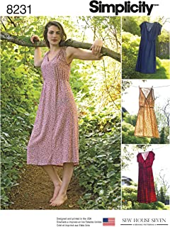 Simplicity 8231 Women's Summer Dress Sewing Pattern, 4 Styles, Sizes 6-14