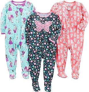 شادی های ساده توسط لباس خواب نوزادان و نوزادان کارتر 3-پا بسته جیب مناسب پلی استر جرسی لباس خواب پا