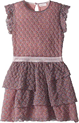Pizzo Lame Dress (Big Kids)