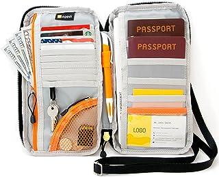 AGILISK Offer Family Organizer 用于信用卡和名片、票据、登板通行证和颈部/肩饰配件的旅行钱包和护照夹。 立即选购! 黑色