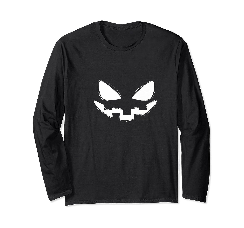 Halloween Trick Or Treat Pumpkin Evil Smile Jack O Lantern Premium T-shirt Long Sleeve T-shirt