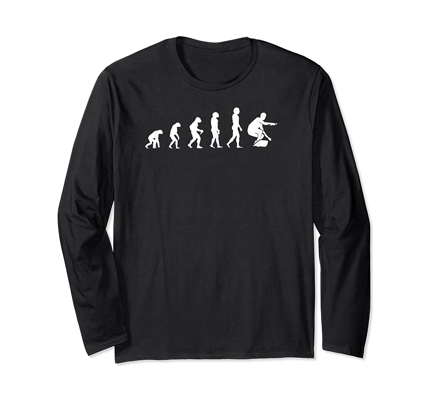 Evolution Of Wakeboarding Shirts Long Sleeve T-shirt