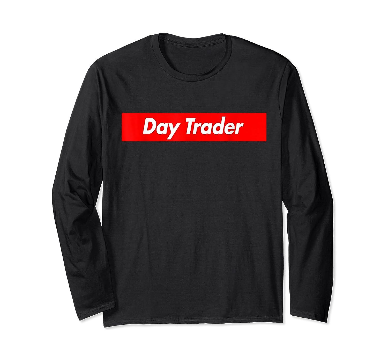 Day Trader Red Box Logo Funny T-shirt Long Sleeve T-shirt