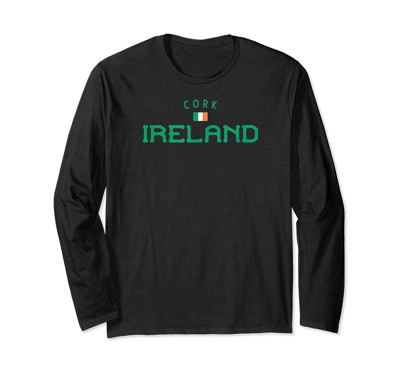 Cork Ireland Shirt With Distressed Irish Design Long Sleeve T-shirt