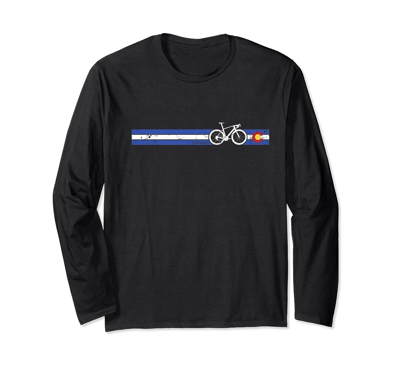 Colorado Flag Cycling T-shirt Beautiful Native Colorado Tee Premium T-shirt Long Sleeve T-shirt