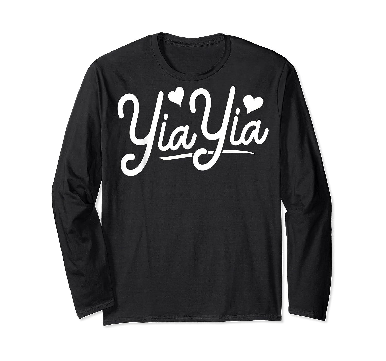 Yiayia For Yiayia Birthday Gifts Cute Yiayia Shirts Long Sleeve T-shirt