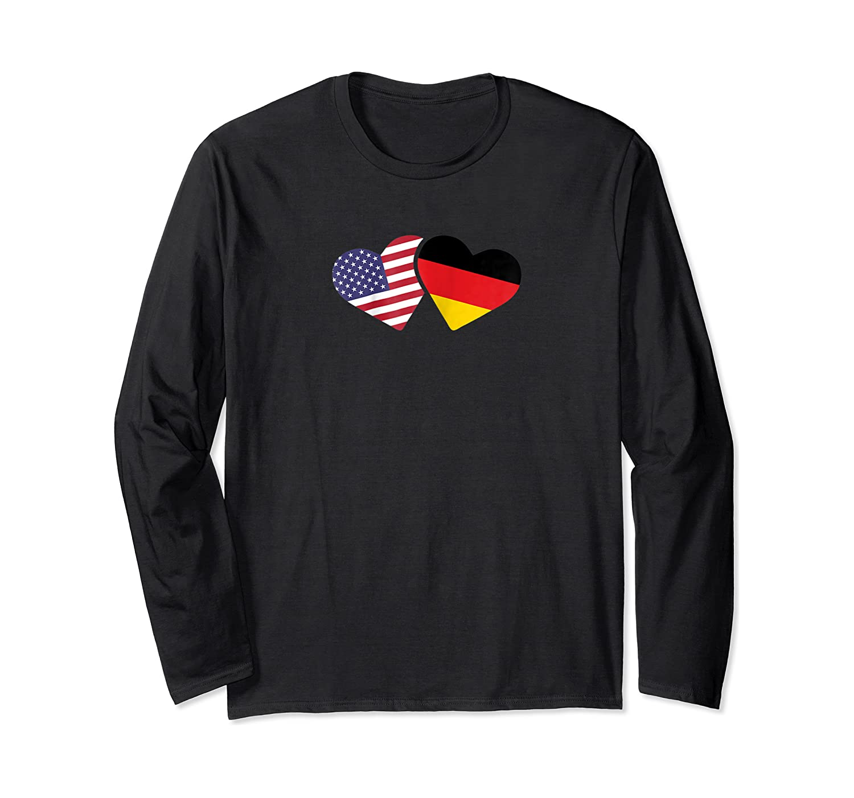 Germany Usa Flag T Shirt Heart German American Love Cute Long Sleeve T-shirt