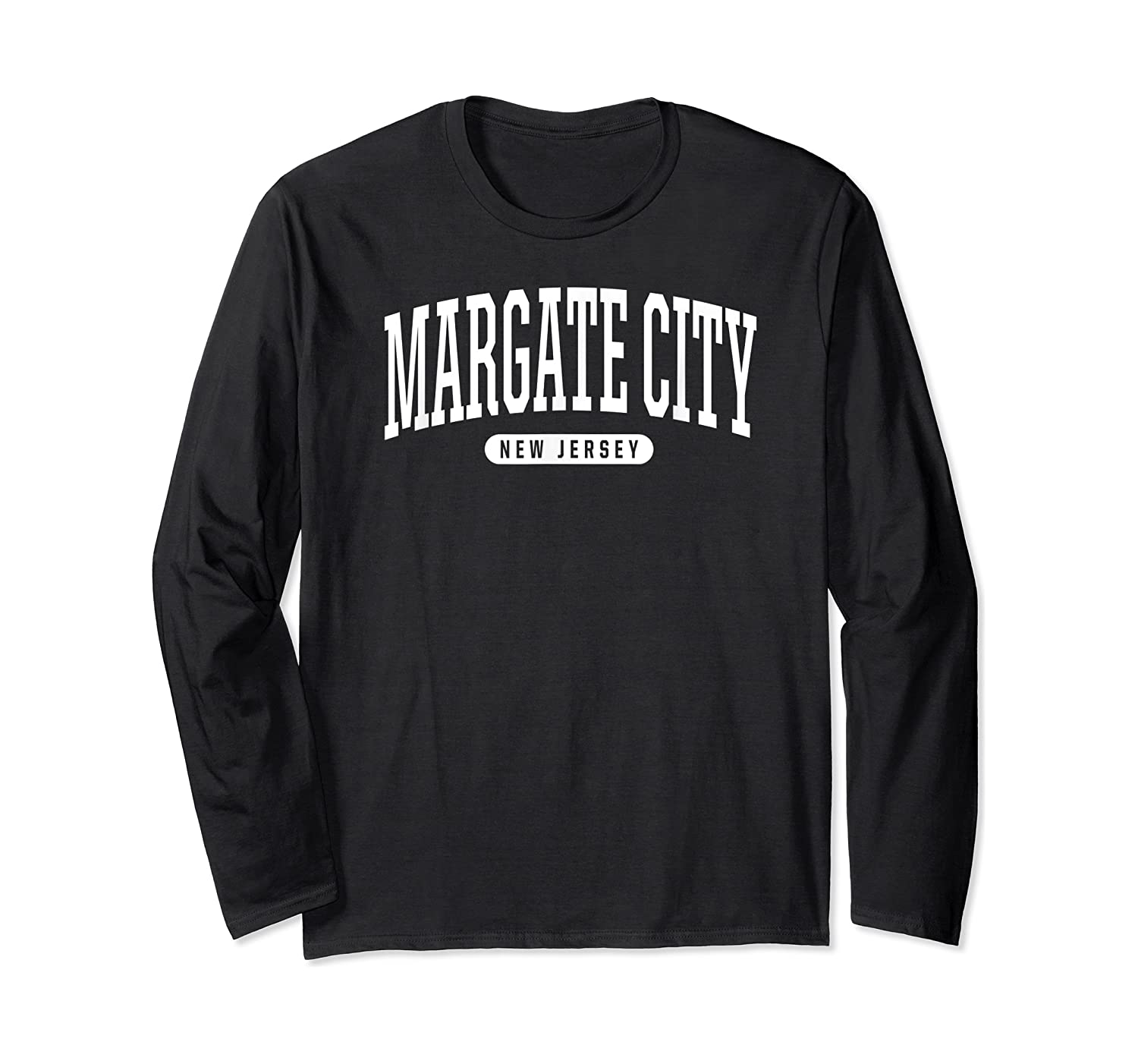 College Style Margate City New Souvenir Gift Shirts Long Sleeve T-shirt