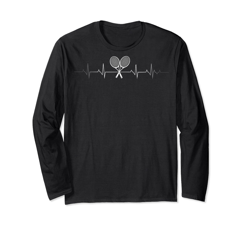 Tennis Heartbeat Gift Funny Tennis Player Lover Shirts Long Sleeve T-shirt