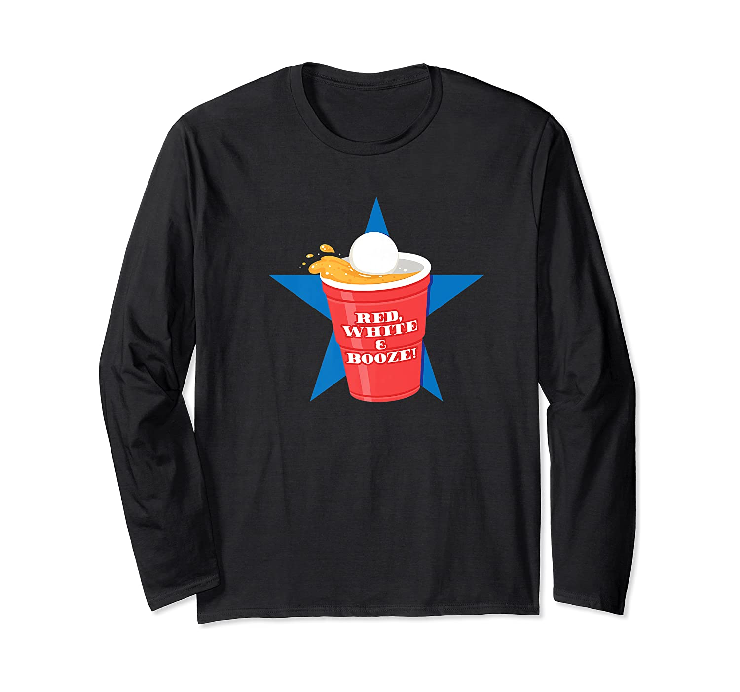 Beer Pong Party College Student Graphic Premium T-shirt Long Sleeve T-shirt