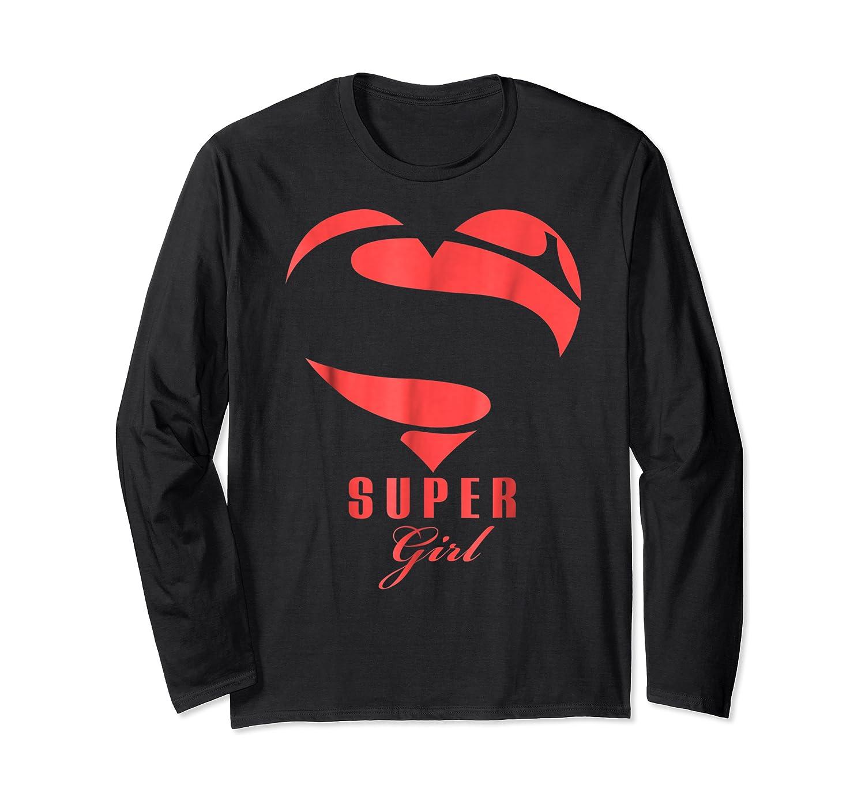 Super Girl Superhero Girl Gift Mother Father Day Shirts Long Sleeve T-shirt