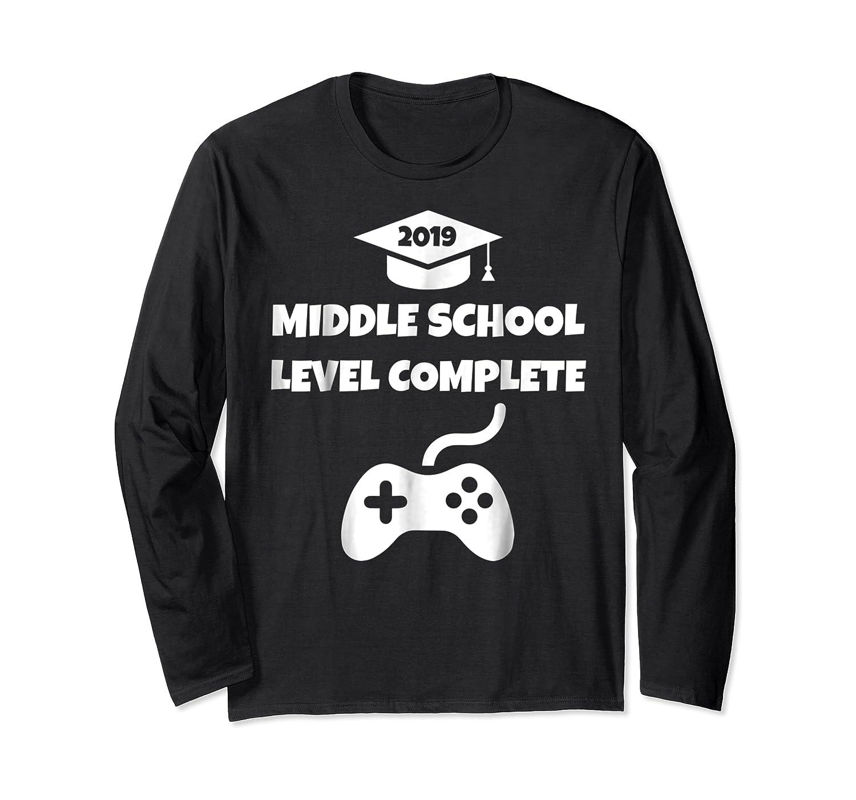 Funny Middle School Graduation Video Gamer Tshirt Long Sleeve T-shirt