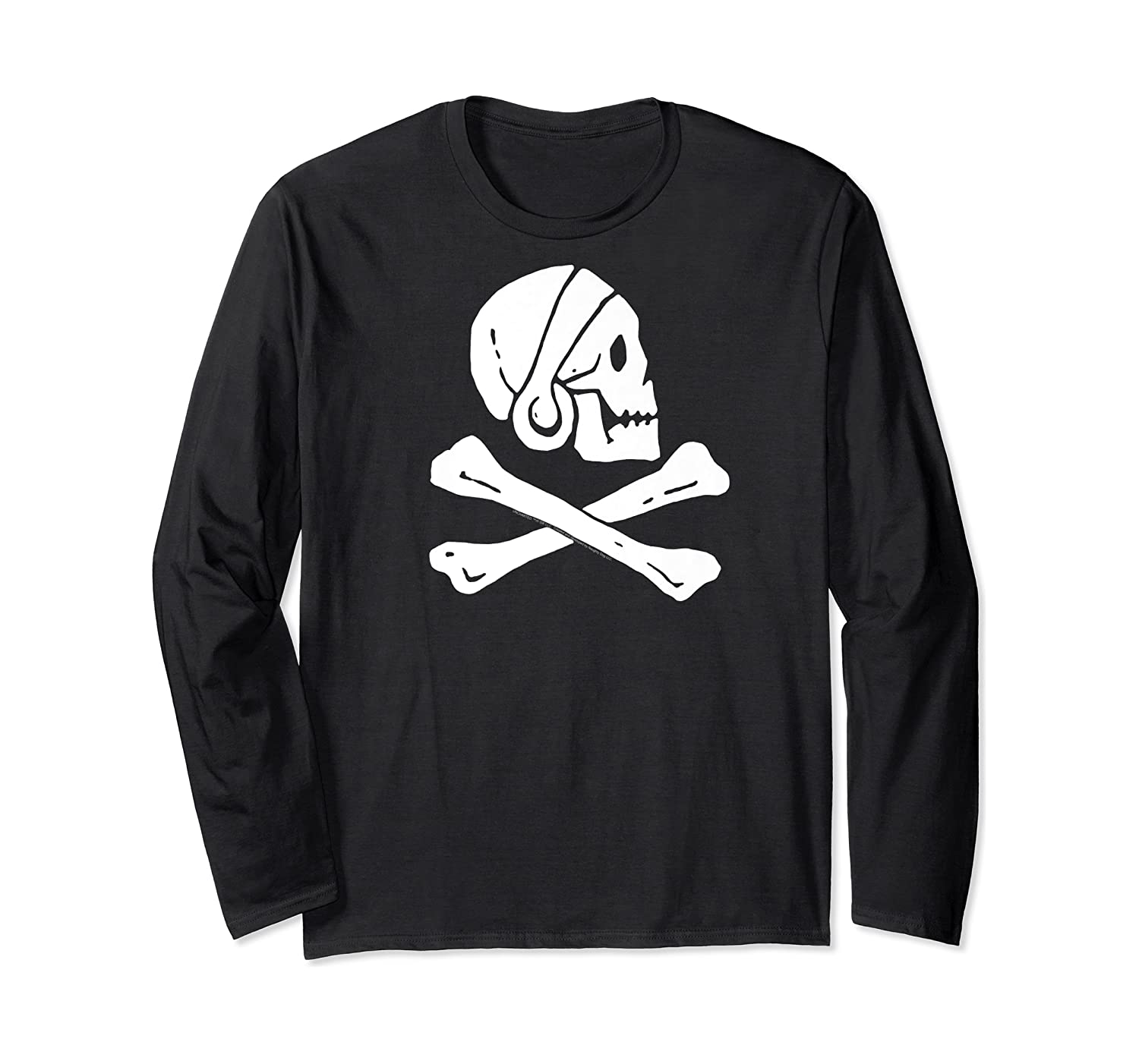 Uncharted Henry Avery Pirate Flag Shirt Long Sleeve T-shirt