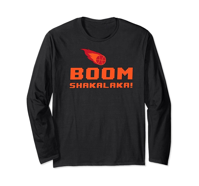 Retro Boomshakalaka Basketball Shirts Long Sleeve T-shirt