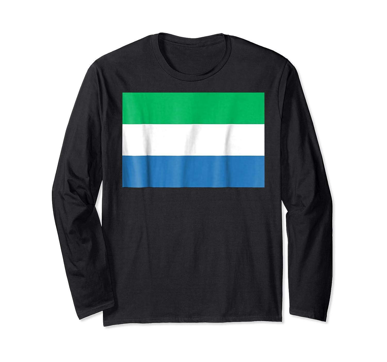 Flag Of Sierra Leone T-shirt Tee Tees T Shirt Tshirt Long Sleeve T-shirt