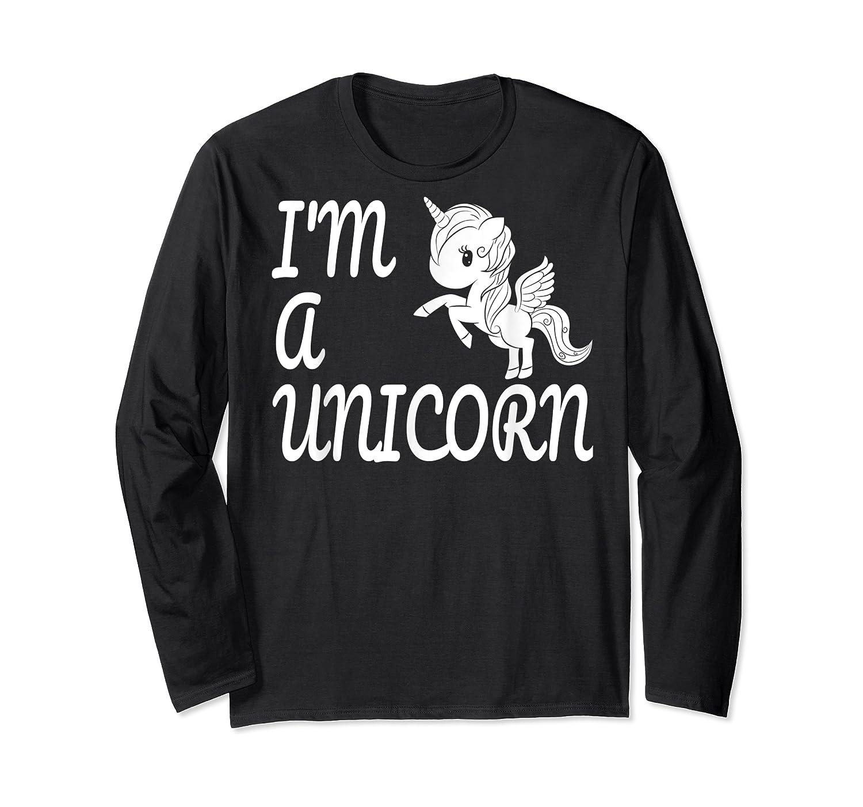 Funny I'm A Unicorn Super Power Pegasus Creature T Shirt Long Sleeve T-shirt