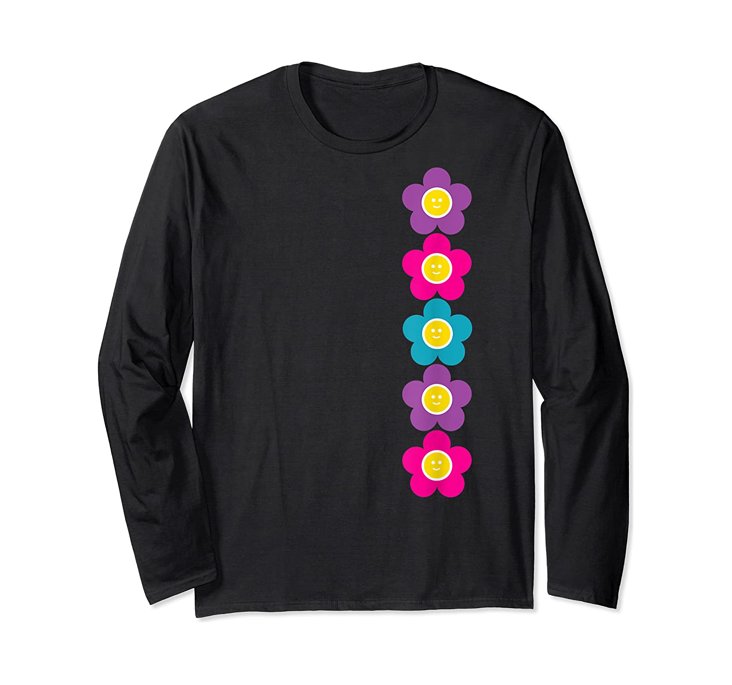 Daisy Flower Pattern Happy, Fun, Bright And Colorful Shirts Long Sleeve T-shirt