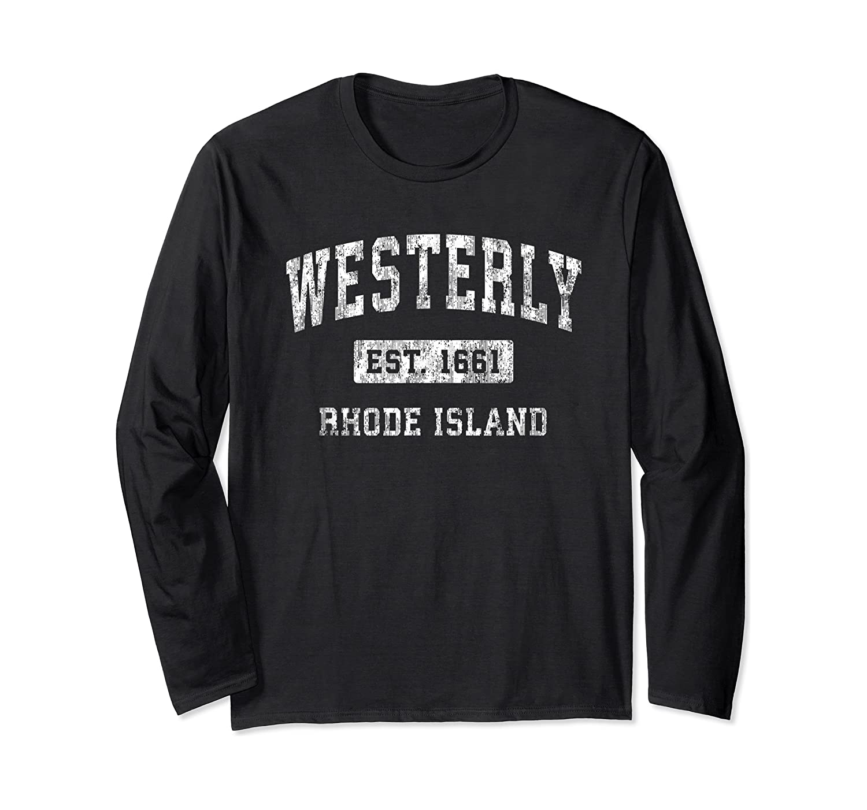 Westerly Rhode Island Ri Vintage Established Sports Design T-shirt Long Sleeve T-shirt