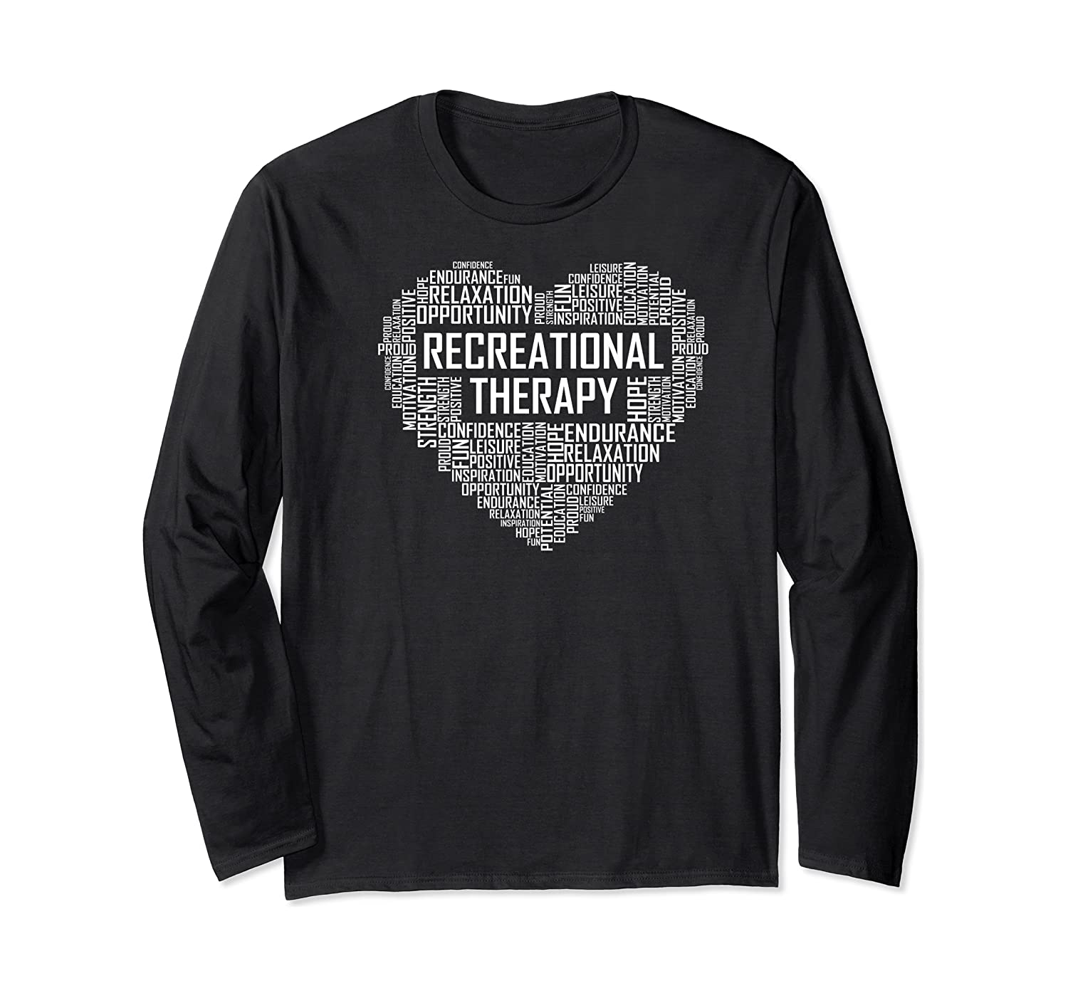 Recreational Therapy Heart Gift Therapist Rt Month Gifts Premium T-shirt Long Sleeve T-shirt