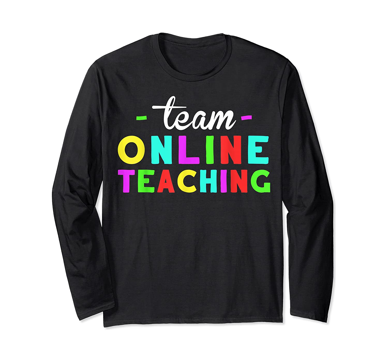 Online Tea Design Gift Virtual Teaching Back To School T-shirt Long Sleeve T-shirt