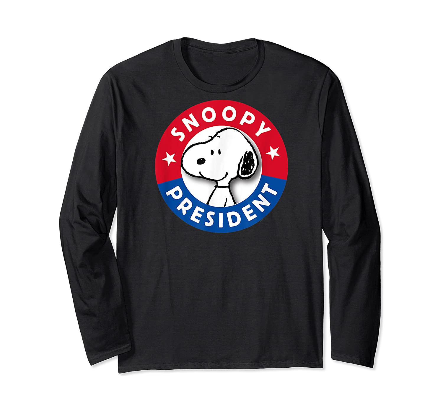 Peanuts Snoopy For President Shirts Long Sleeve T-shirt